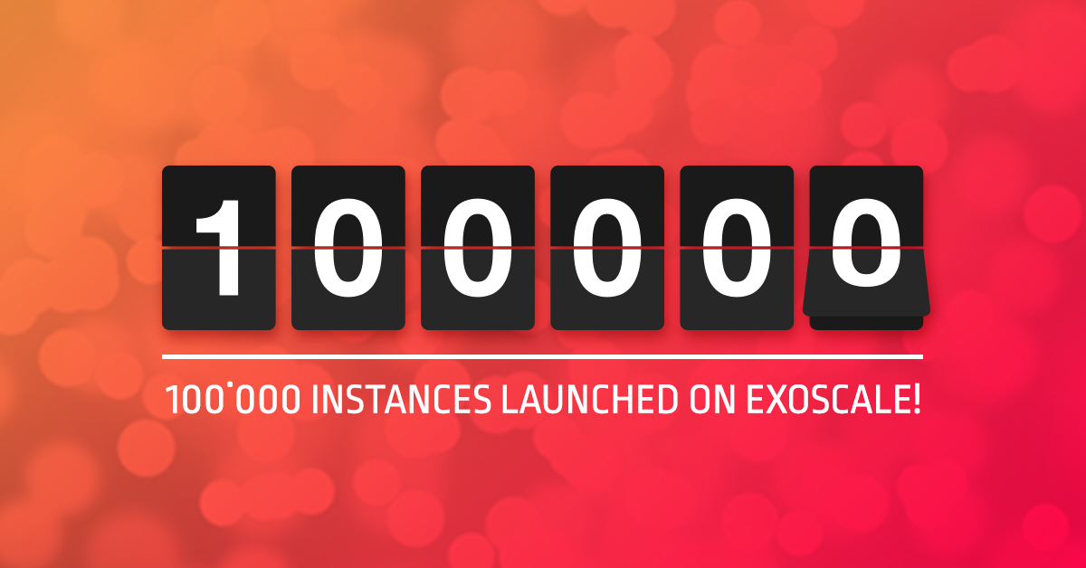 100,000 instances on Exoscale