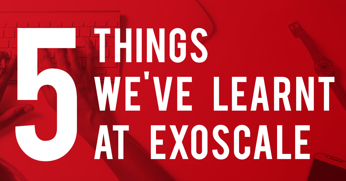 Five things we've learnt at Exoscale