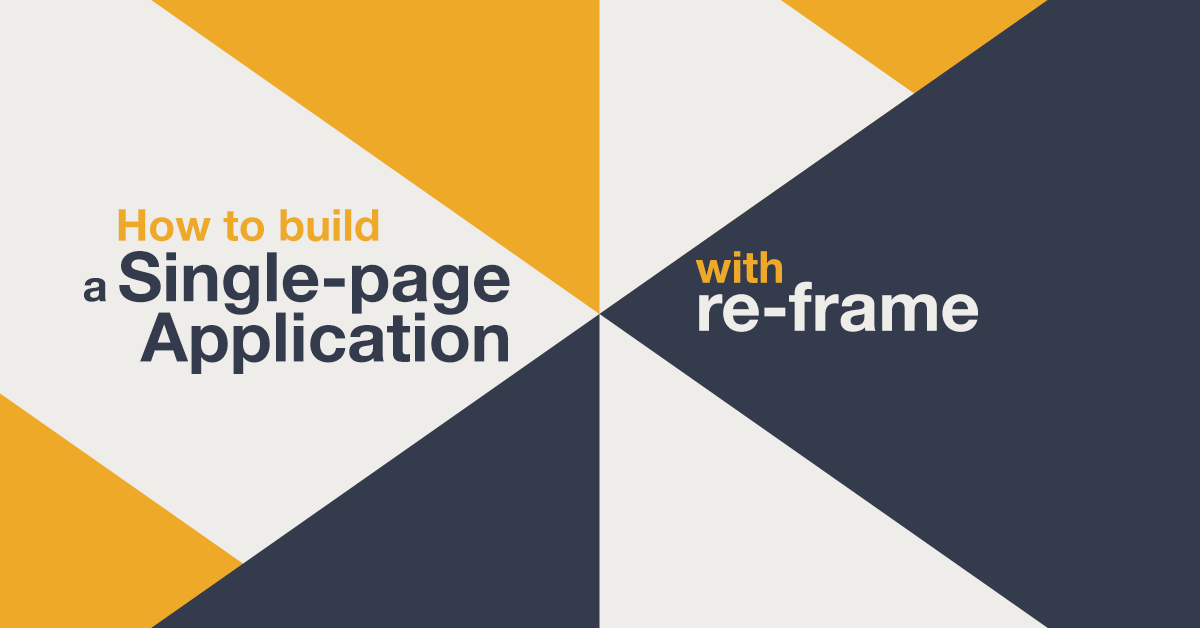 re-frame single-page application example