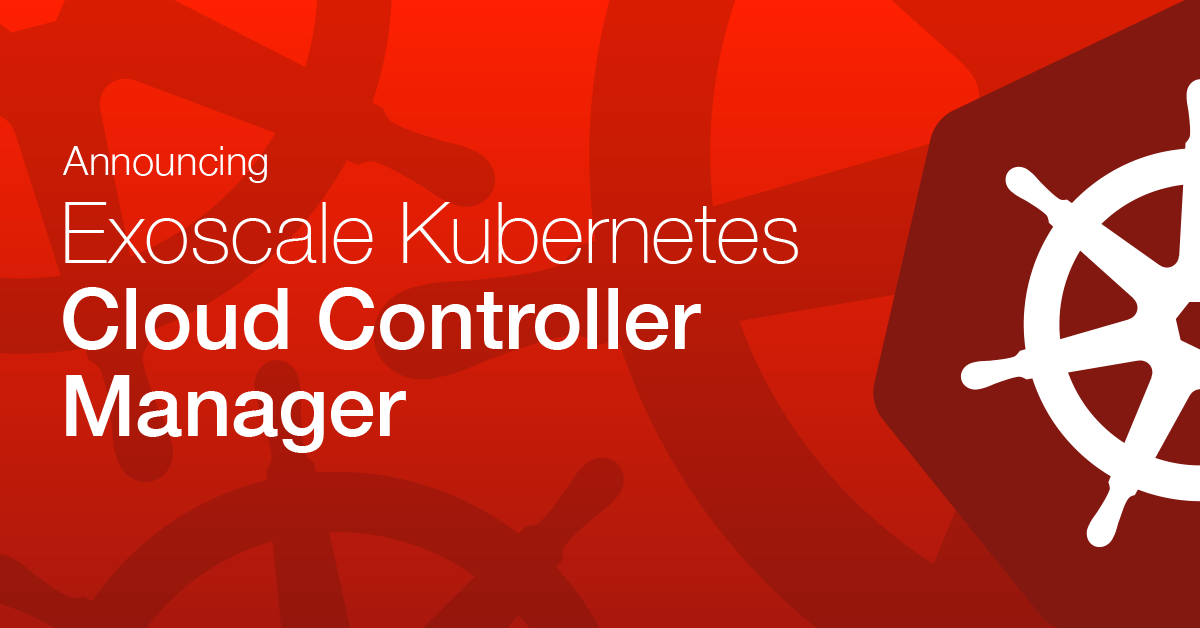 Exoscale's Official Kubernetes Cloud Controller Manager